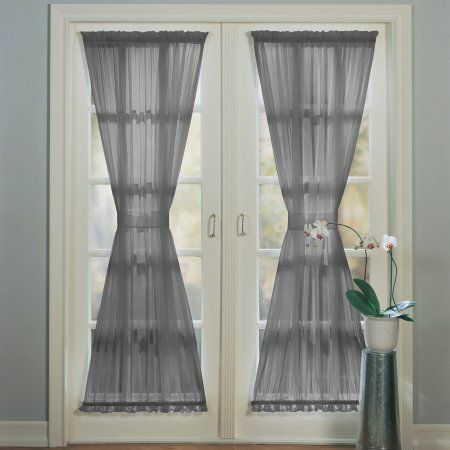 No 918 Emily Sheer Voile Door Curtain Panel Panel Curtains