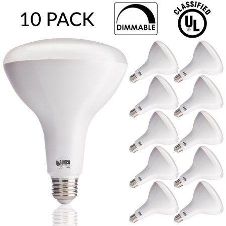 Sunco 10 Pack Br40 Led 17watt 100w Equivalent 5000k Daylight Dimmable Indoor Outdoor Lighting 1400 Lu Indoor Outdoor Lighting Light Bulb Led Light Bulb