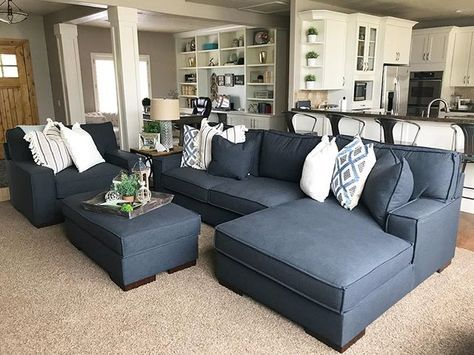 Gamaliel Oversized Chair By Ashley Homestore Gray Ashley Furniture Living Room Blue Couch Living Room Family Room Design