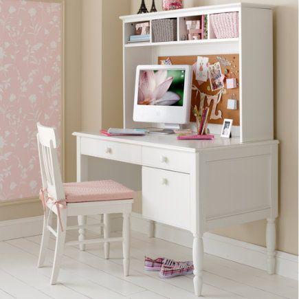 Escritorio Rosa Girl Desk Girls White Desk Teenage Room