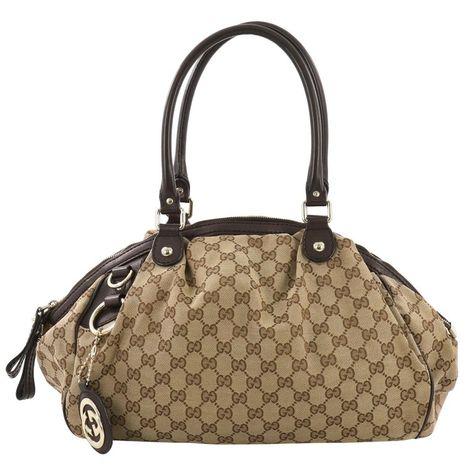 a902eaa18 Gucci Sukey Boston Bag Gg Canvas Top Handle Bag, Brown