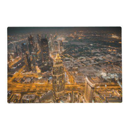 Dubai United Arab Emirates Placemat Architecture Poster United Arab Emirates Poster Prints