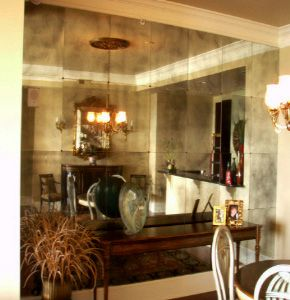 My Crush On Antique Glass Mirrors The Detail And The Design Mirror Wall Living Room Antique Mirror Glass Mirror Wall