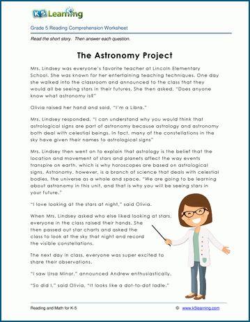 Grade 5 Children S Stories Reading Worksheets K5 Learning Reading Comprehension Worksheets Comprehension Worksheets Reading Comprehension