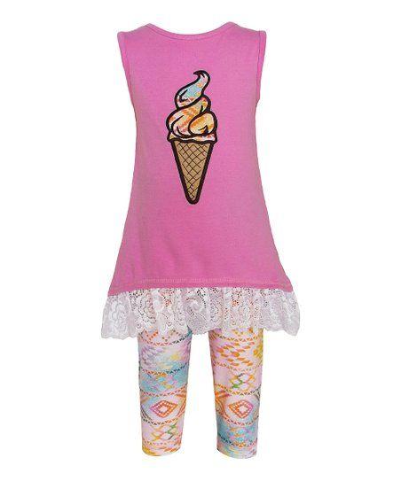 Girls ANN LOREN birthday outfit 12-18-24 2T 3T 4T 5 NWT cupcake shirt tunic pant