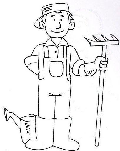 Dibujos De Jardineros Para Colorear Oficios Y Profesiones Oficios Y Profeciones Oficios