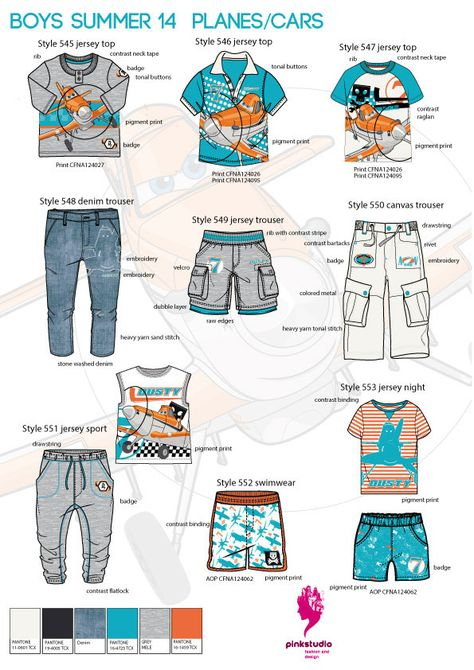 Boy's summer License Collection for international wholesaler.