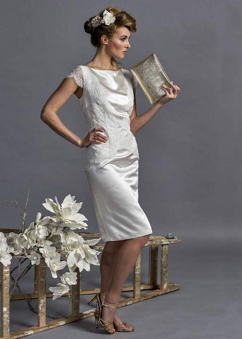 Ältere braut für standesamtkleid kurze Brautkleider