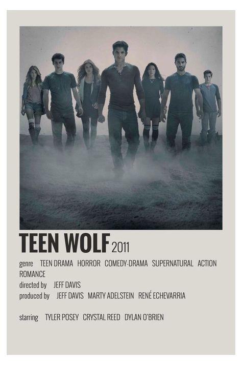 minimal movie posters teen wolf