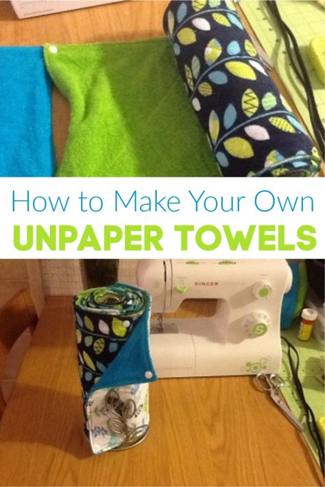 Step-By-Step instructions for how to make your own unpaper towels. I love these reusable paper towels. Step-By-Step instructions for how to make your own unpaper towels. I love these reusable paper towels. Cloth Paper Towels, Paper Towel Crafts, Diy Paper, Sewing Hacks, Sewing Tutorials, Sewing Crafts, Sewing Tips, Dress Tutorials, Sewing Ideas