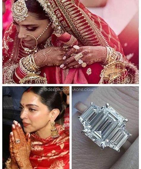 Deepveer Engagement Ring Bollywood Wedding Deepika Padukone Style Bridal Jewellery Indian
