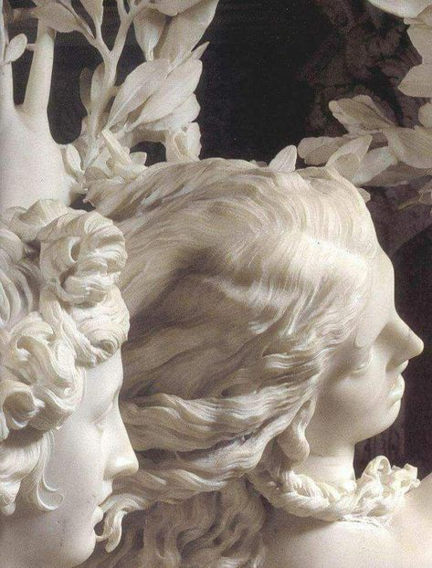 Apollo and Daphne is a life-sized Baroque marble sculpture by Italian artist Gian Lorenzo Bernini executed Housed in the Galleria Borghese in Rome. Sculpture Du Bernin, Bernini Sculpture, Baroque Sculpture, Clay Sculptures, Inspiration Art, Art Inspo, Michelangelo, Statues, Art Et Architecture