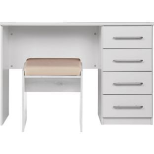 Buy Vancouver Drawer Dressing Table And Stool White At Argos - White dressing table argos