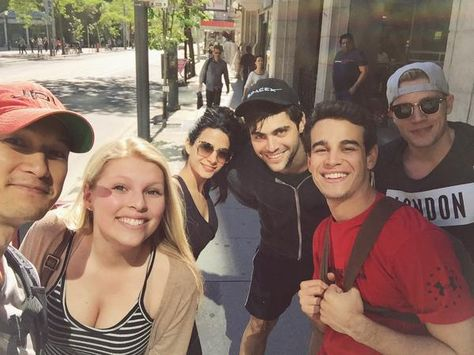 A lucky fan even ran into them on her way to work!