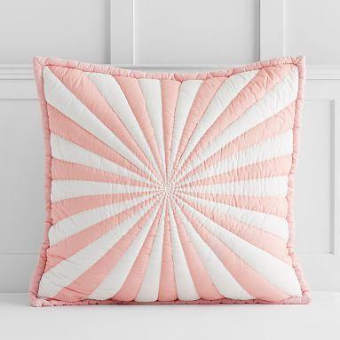 the emily u0026 meritt umbrella stripe euro pillowcase pinkwhite