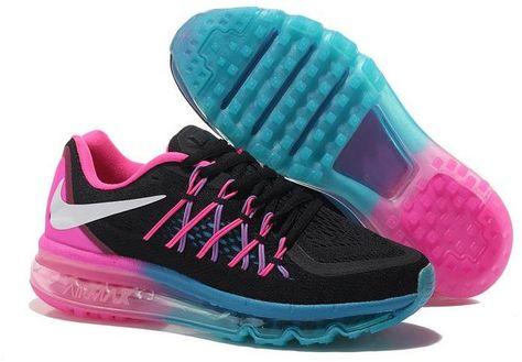 finest selection f1af7 f6ba6 Air Maxs 2015 Women Pink Black Blue Shoes | Air Max 2015 Women shoes ...