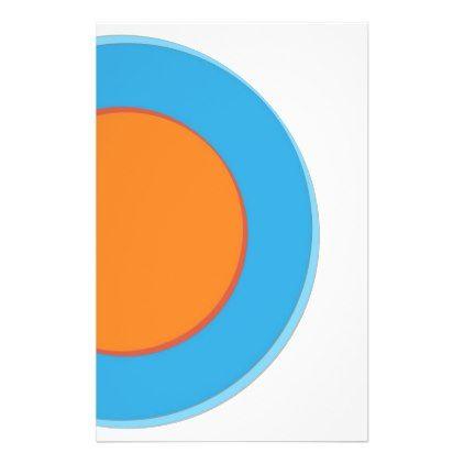 Orange In Blue Dots Stationery | Zazzle com | pattern | Dots, Blue