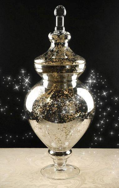 Pin By Ashley Bazzani On Luxuriʘuꮥ Glass Apothecary Jars Glass Mirror Apothecary Jars