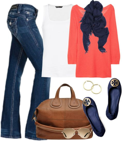 """""""Fall casual"""" by partywithgatsby on Polyvore I love this look so much! I'm obsessed with Navy!!"""