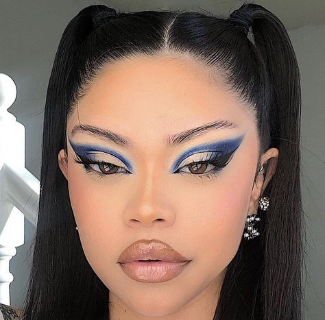 Cute Makeup Looks, Makeup Eye Looks, Creative Makeup Looks, Eye Makeup Art, Gorgeous Makeup, Pretty Makeup, Beauty Makeup, Dope Makeup, Edgy Makeup