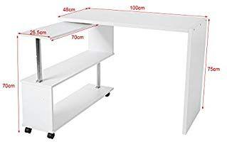 Zerone Table D Ordinateur En Forme De L Meuble De Bureau