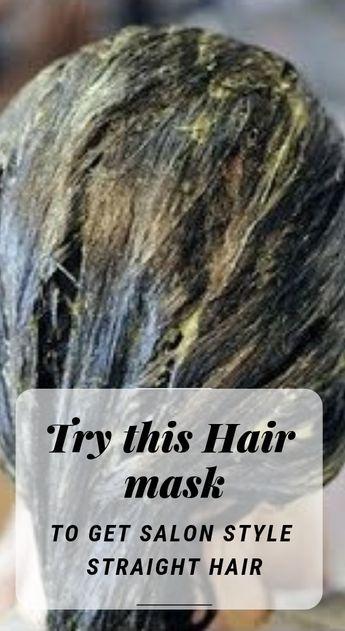 Wanna Have Salon Like Straight Hair Try This Diy Hair Mask Diy Silkyhair Hairmask Healthyhair Straighthair Straight Hairstyles Diy Hair Mask Hair Mask