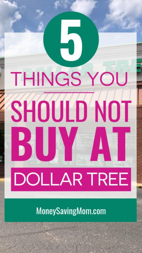5 Things You Should NOT Buy At Dollar Tree!