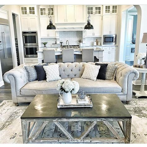 """Interior Design & Home Decor on Instagram: """"Nothing like a tufted couch! By @mytexashouse"""""""