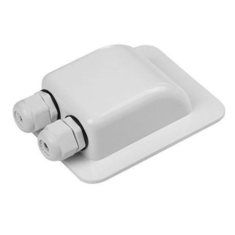 Link Solar Weatherproof ABS Solar Double Cable Entry Gland for All Cable Types for Solar Project on Rv, Campervan, Boat - 2mm² to 6mm² / White