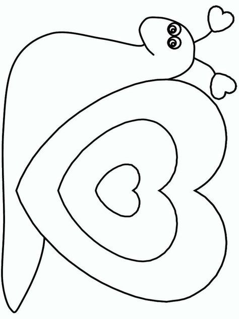 Valentine Snail Valentine Coloring Pages Heart Coloring Pages