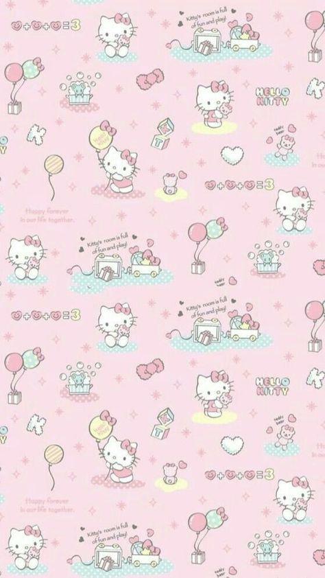 16 New Ideas Wallpaper Iphone Disney Pink Hello Kitty Hello Kitty Iphone Wallpaper Hello Kitty Pictures Hello Kitty Backgrounds Iphone hello kitty aesthetic wallpaper