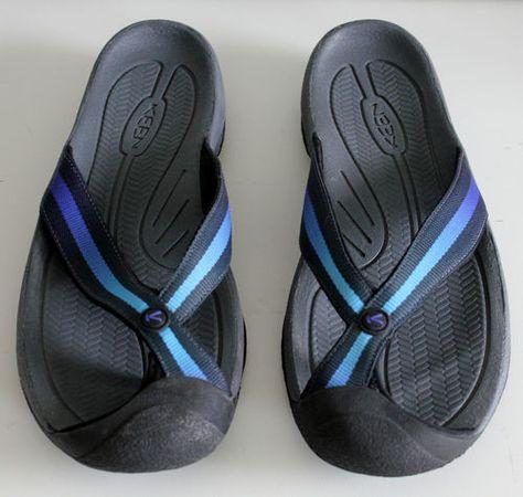 435a268d41e0  40.00 Keen Waimea H2 Mens Flip Flop Sandals Size 13 Ombre Blue Strap