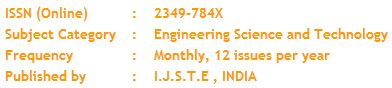 International Journal of Science Technology and Engineering is a peer-reviewed, monthly, online international research journal, which publishes original articles, research articles, review articles from all areas of Engineering and Technology Research and their application including Civil, Mechanical, Computer science, Electrical, Electronics and Communication and many more. Research Scholar in all engineering and technology fields are swayed to help articles focused around late research.