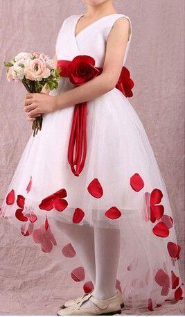 Vokuhila Blumenmadchenkleid Vorne Kurz Hinten Lang Blumen Madchen Kleider Blumenmadchenkleid Vokuhila