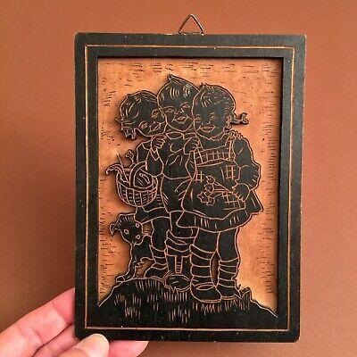 1930er Reizende Kinder Top Laubsage Arbeit Kork Holz Deutsch Maerchen Holzbild Ebay In 2020 Holzbilder Antikes Spielzeug Bilder