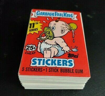 Ebay Sponsored Garbage Pail Kids Gpk 1987 Original Series 11 Os11 Complete Set Wrapper In 2020 Garbage Pail Kids Garbage Pail Kids Cards Pail