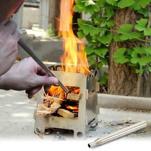 Folding Gas-Burner Fishing Outdoor Cooking Camping Picnic Cook Stove Usable