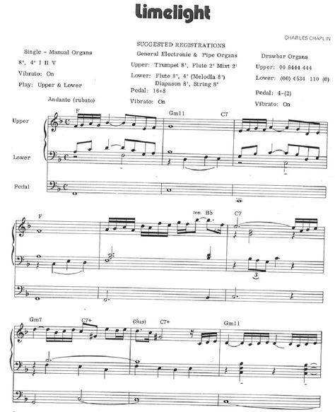 Charlie Chaplin Limelight Theme Piano Fogli Pianohelp
