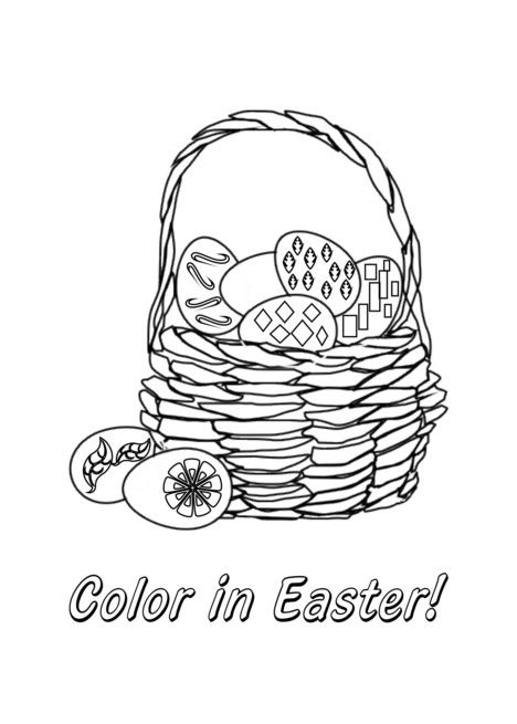 Easter Eggs In Basket Coloring Book Card Ad Ad Basket Eggs Easter In 2020 Coloring Books Easter Eggs Easter