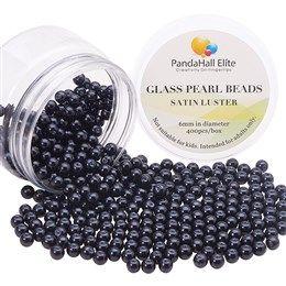 PandaHall Elite 400Pcs 6mm Tiny Satin Luster Round Glass Pearl Beads...