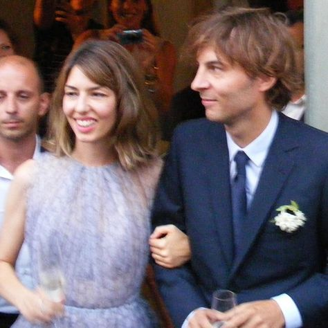 Pin for Later: Married to Fashion: 18 Wedding Looks From Our Favourite Style Stars  In Bernalda, Italy, Sofia Coppola married Thomas Mars wearing a pretty, pastel Azzedine Alaïa dress in August 2011.