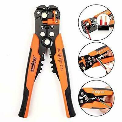 Automatic Wire Crimper Cutter Stripper Electrical Cable Terminal Tool Orange