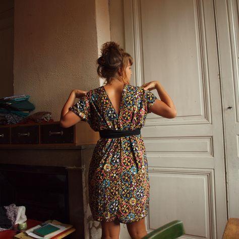 Histoire De Rectangles Bouts De Tissus Couture Facile Robe Robe Facile Robe Patron