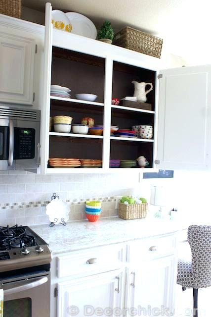 Painting Inside Kitchen Cabinets Painting Inside Kitchen Cabinets Cabinets Inside White Kitchen Makeover Inside Kitchen Cabinets Diy Kitchen Cabinets Painting