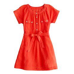 Girls gauze camp dress