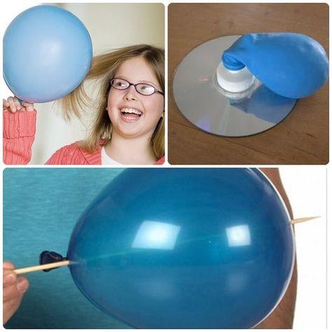 3 experimentos para niños: ¡juguemos con globos!