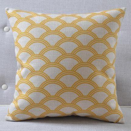 Yellow Coastal Scallop Pillow Cover Pillows Yellow Cushions