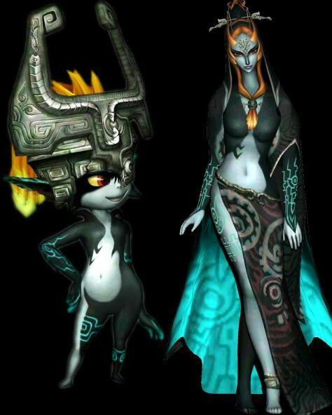 Midna-Imp and True Form | Midna Twilight Princess/HW | Pinterest ...