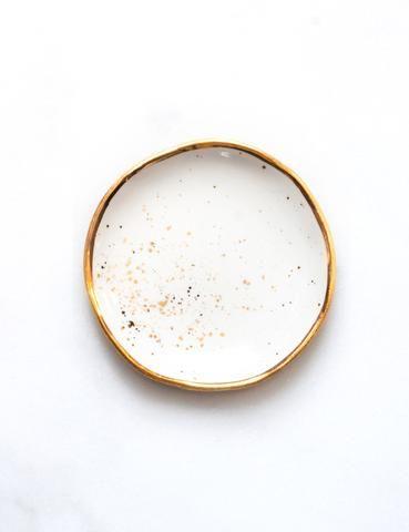 Large Gold Rim Ring Dish