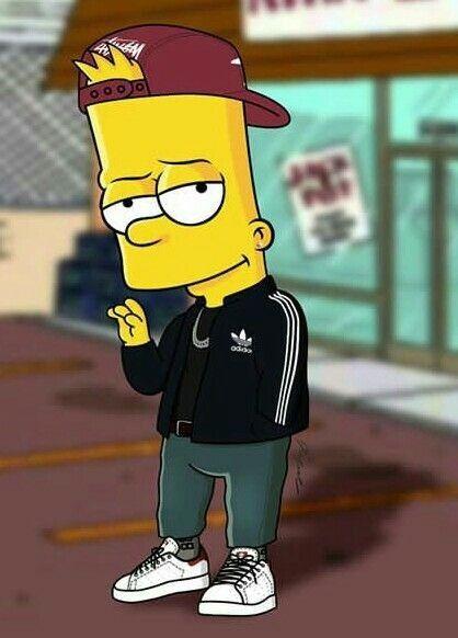 Fond Ecran Bart Simpson Drogue